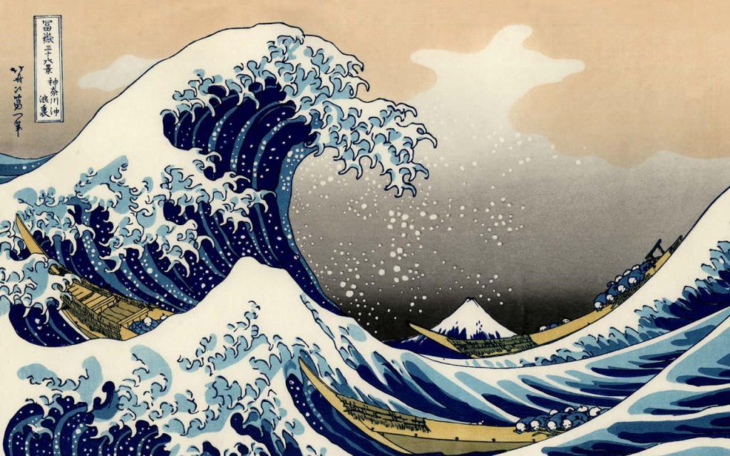 Resultado de imagen de La gran ola kanagawa cuadro