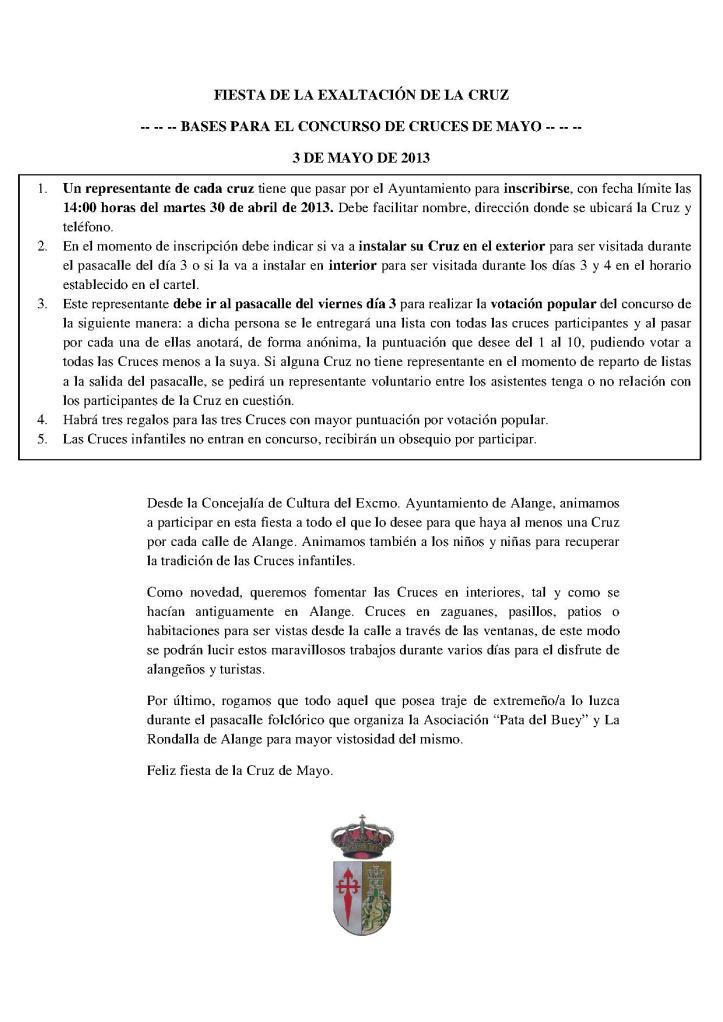 BASES CONCURSO CRUCES 2013